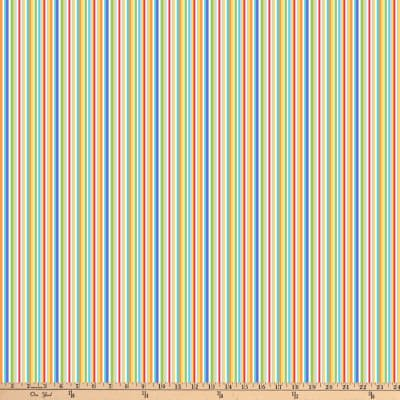 Northcott Alphabet Soup Colorful Stripes Multi Fabric