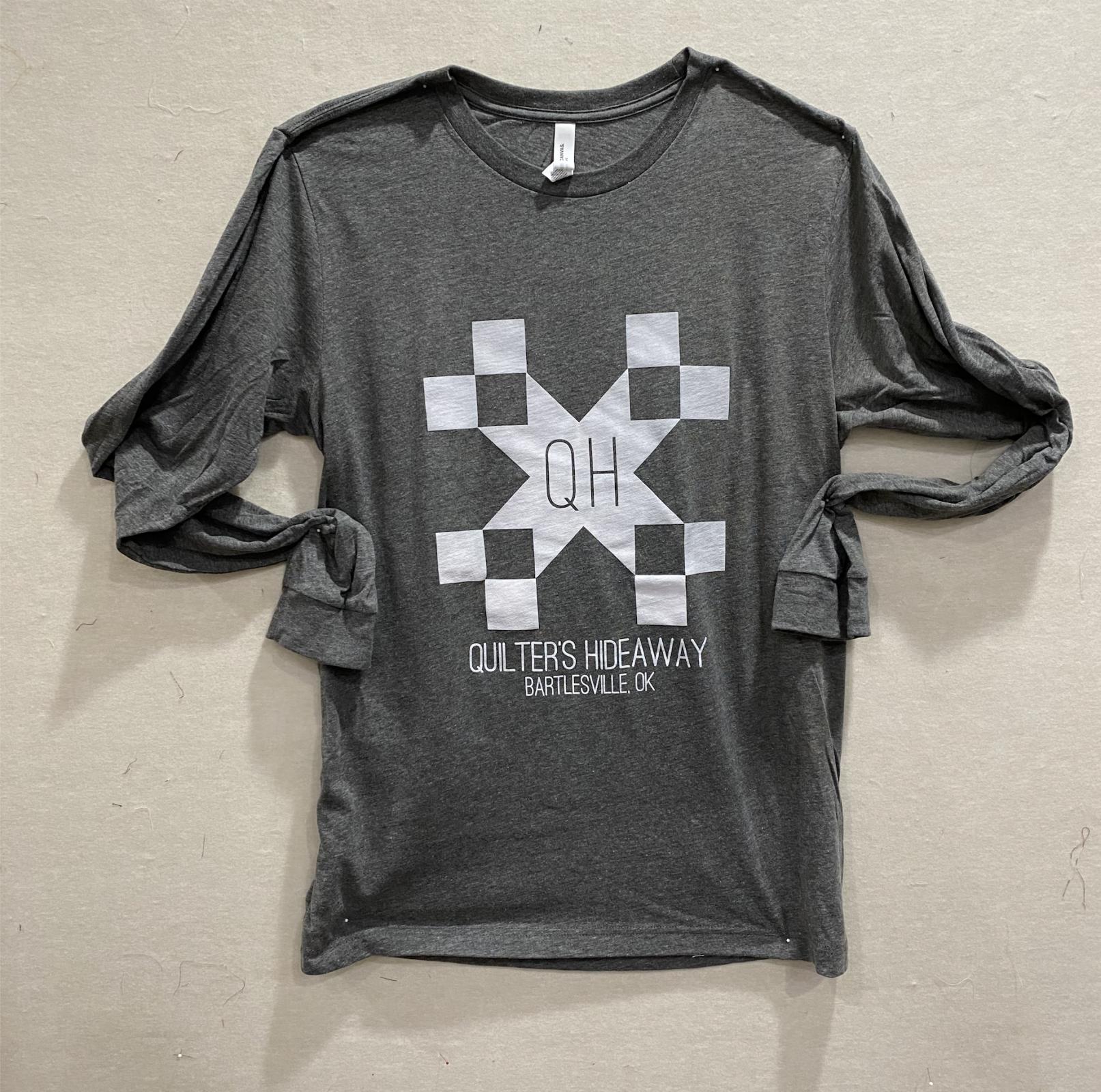 QH Deep Gray Long Sleeve T Shirt - Large