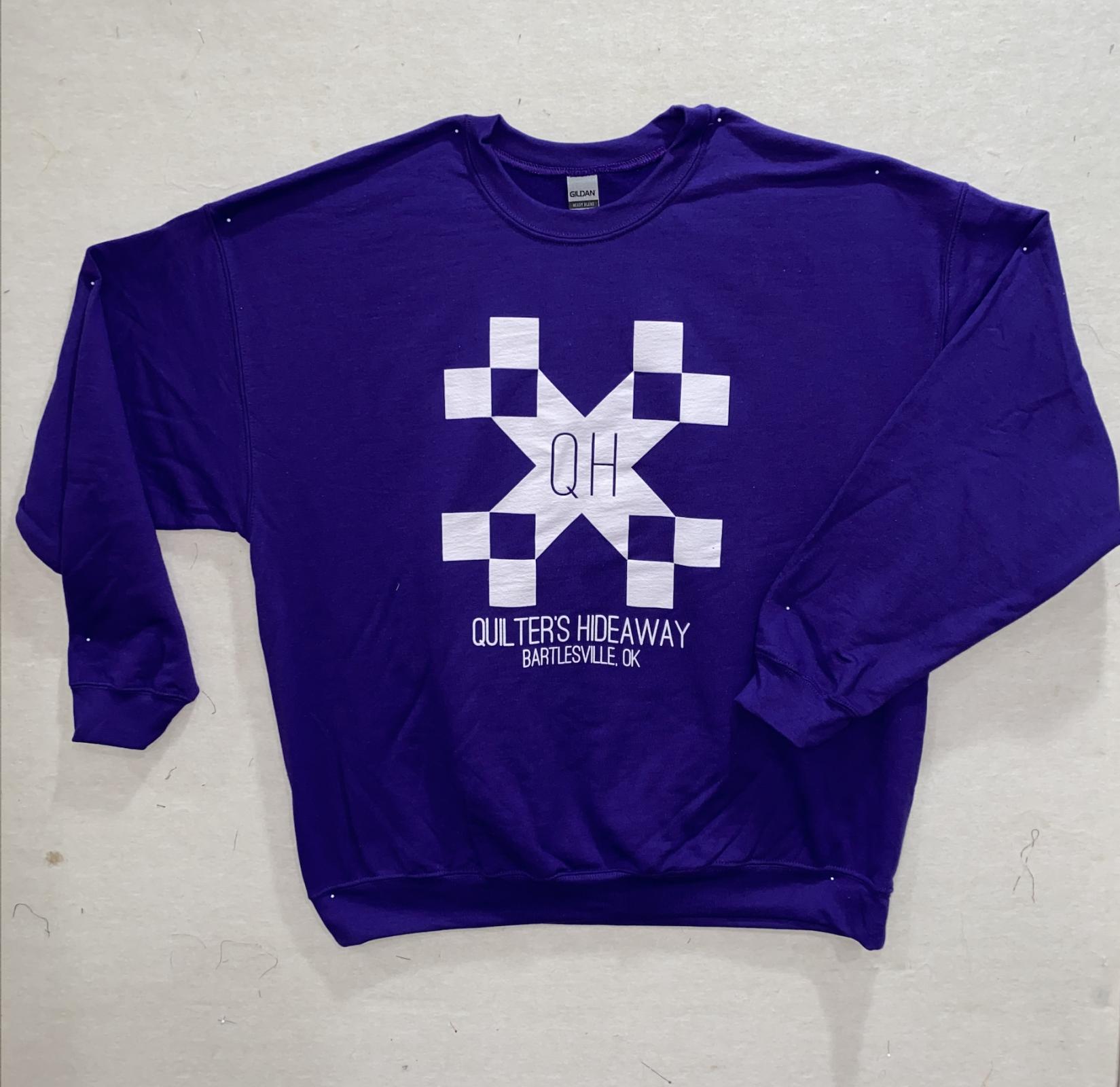 QH Purple Crew Neck SS - Large