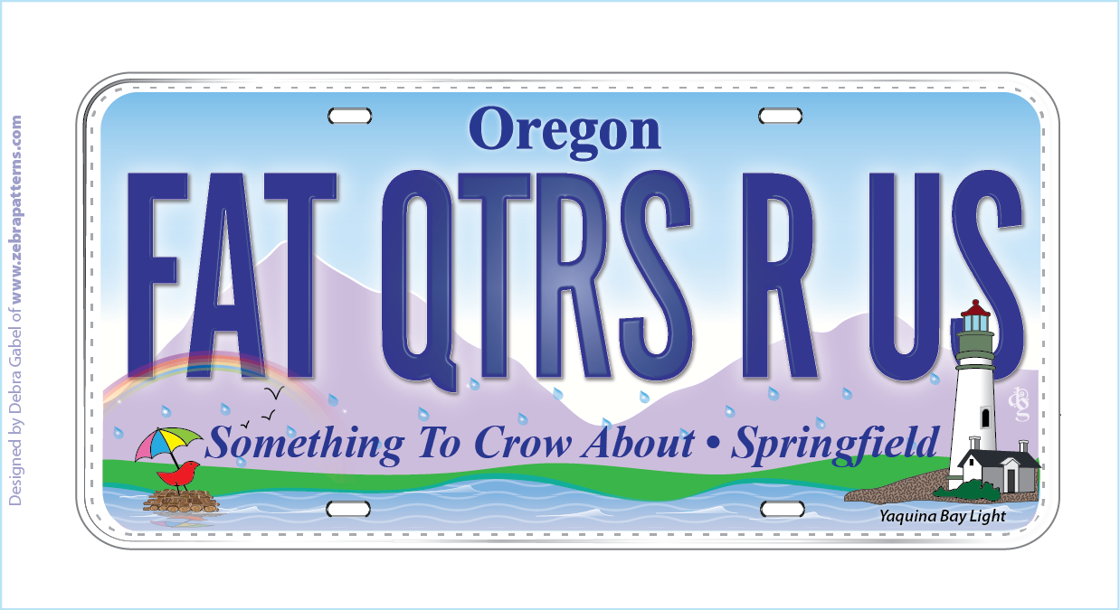 Row by Row License Plate