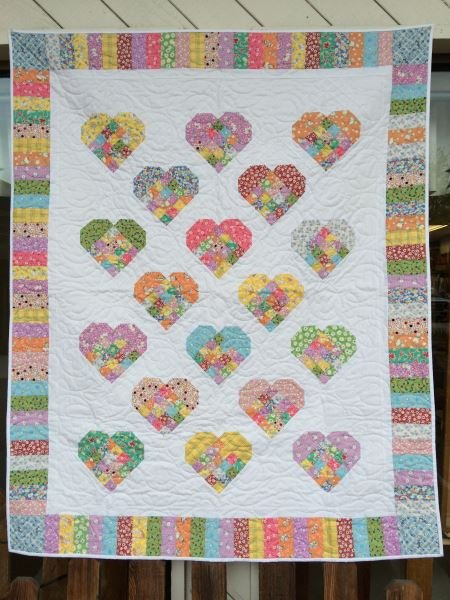 Scrap-Patch Hearts