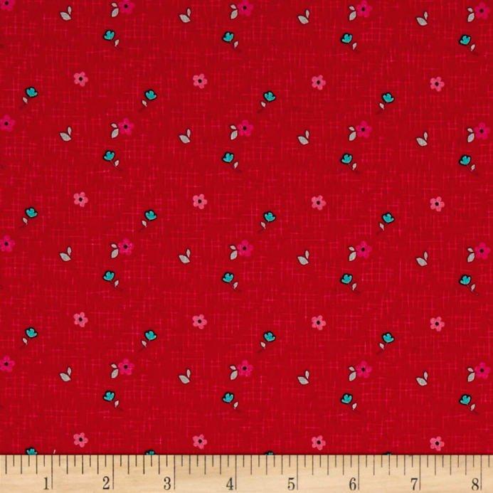 Panda Floral-Red 8046