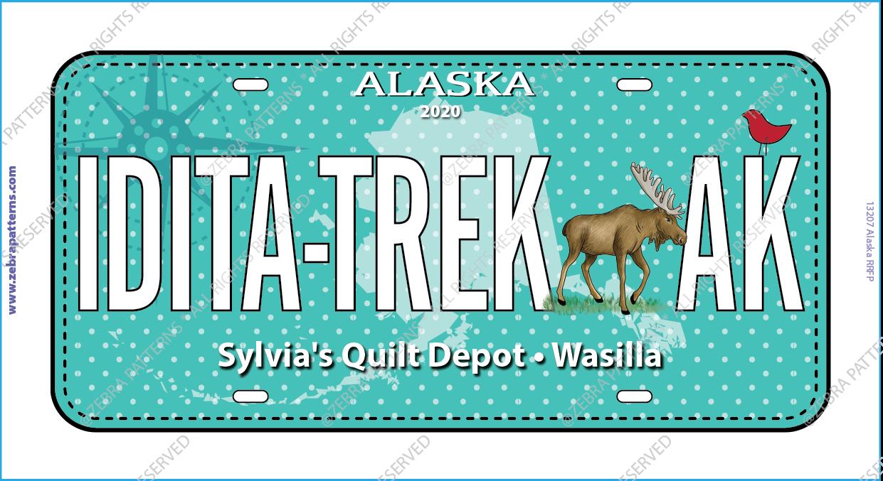 2020 License Plate-Idita-Trek