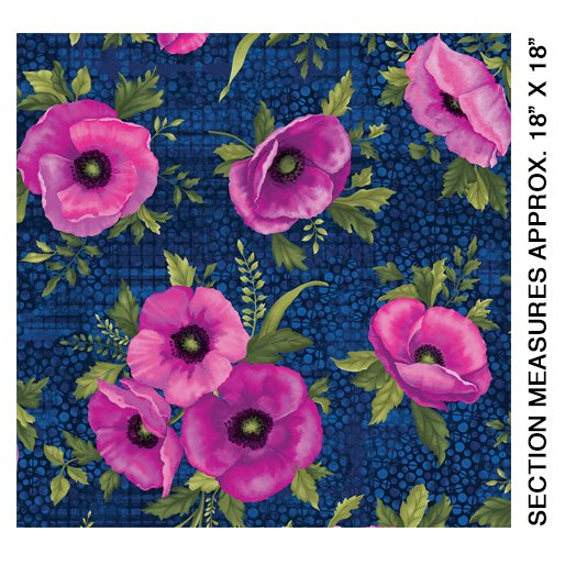 Midnight Poppies - Midnight/Fuchsia