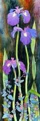 Tall Iris Panel
