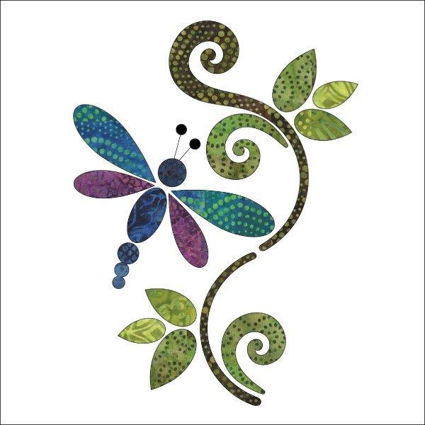 Dragonfly Set-Batik-Applique