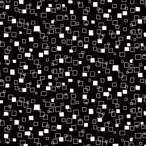 Monochrome-Blk Squares 28-X
