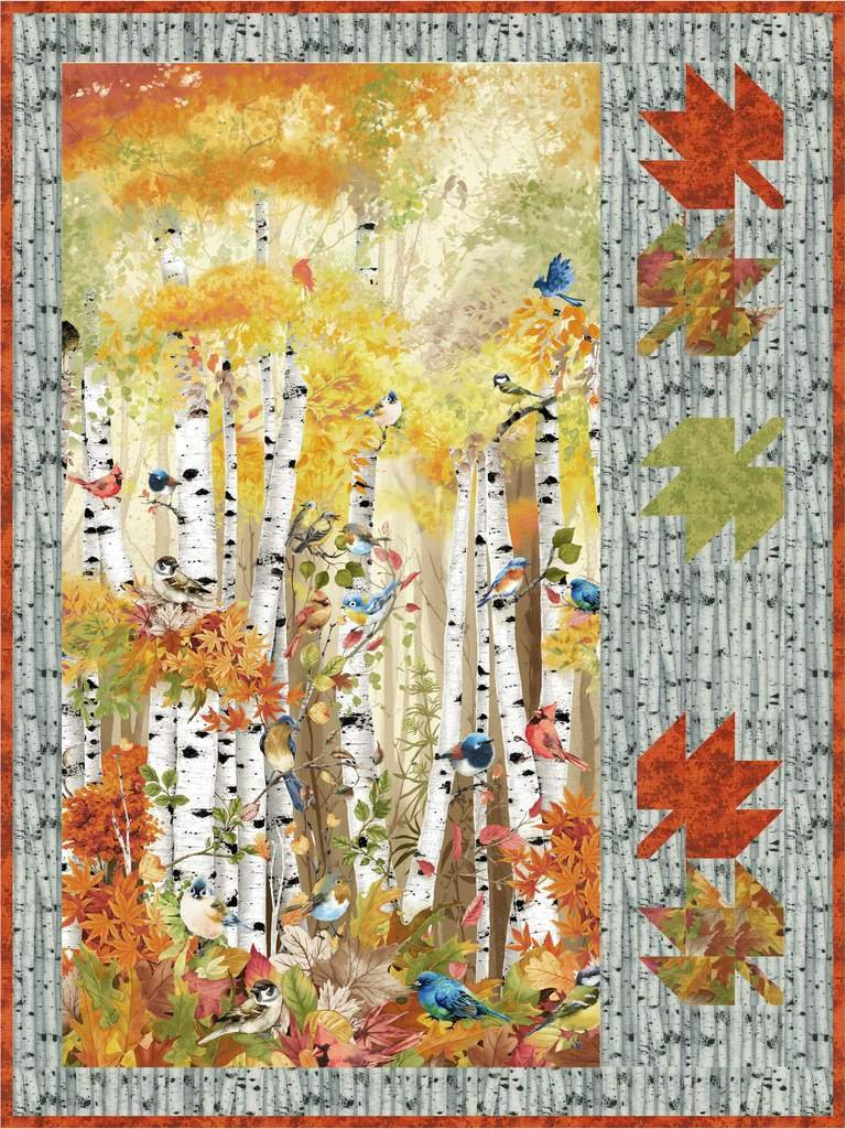 Floating Leaves Quilt Kit