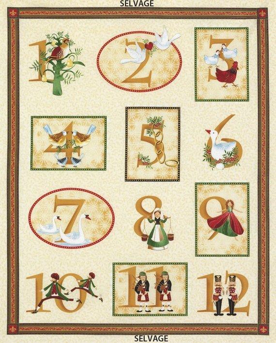 Panel-12 Days of Christmas 3142