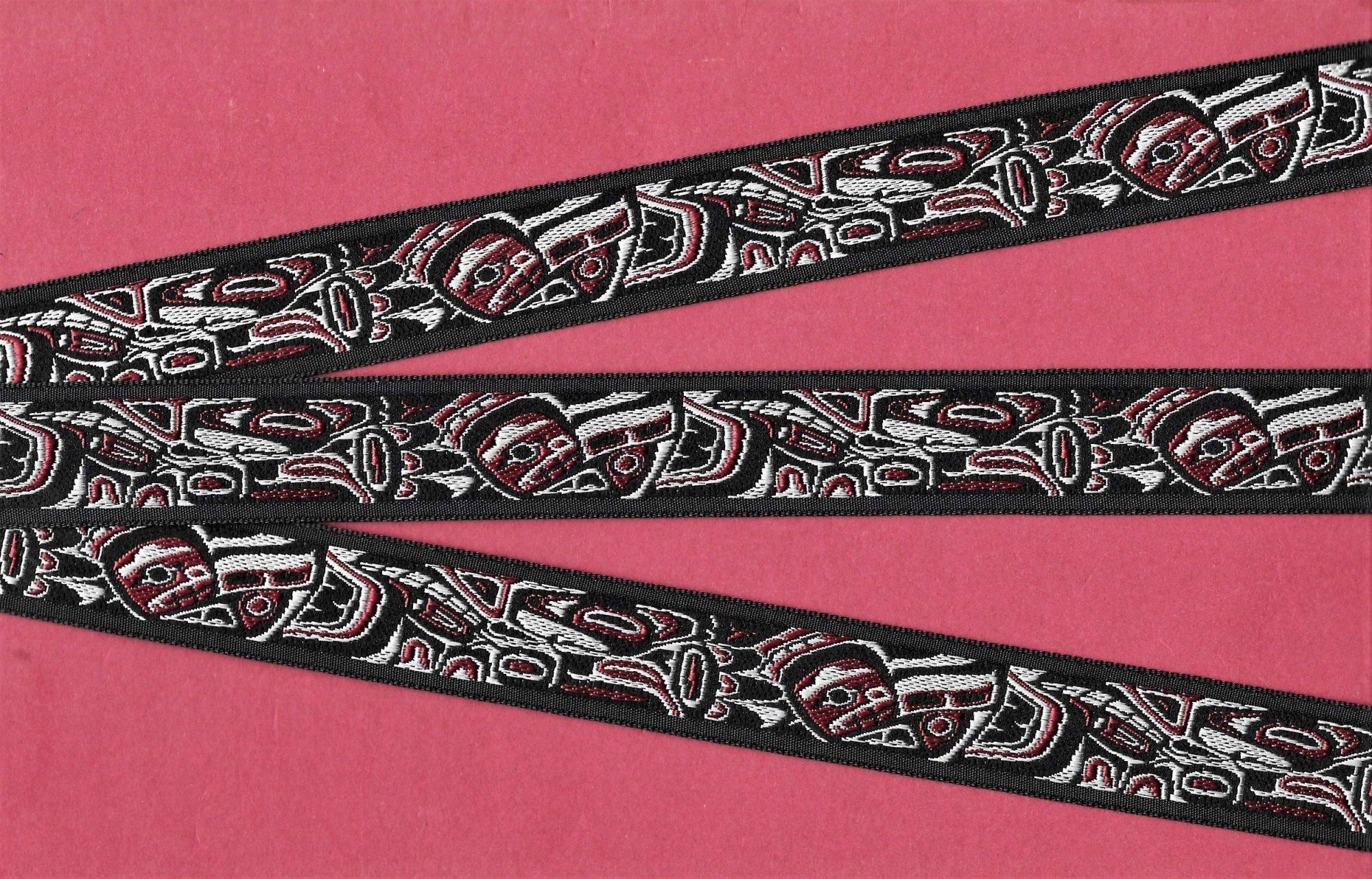 Ribbon-Tlingit, Black/Burg 7/8