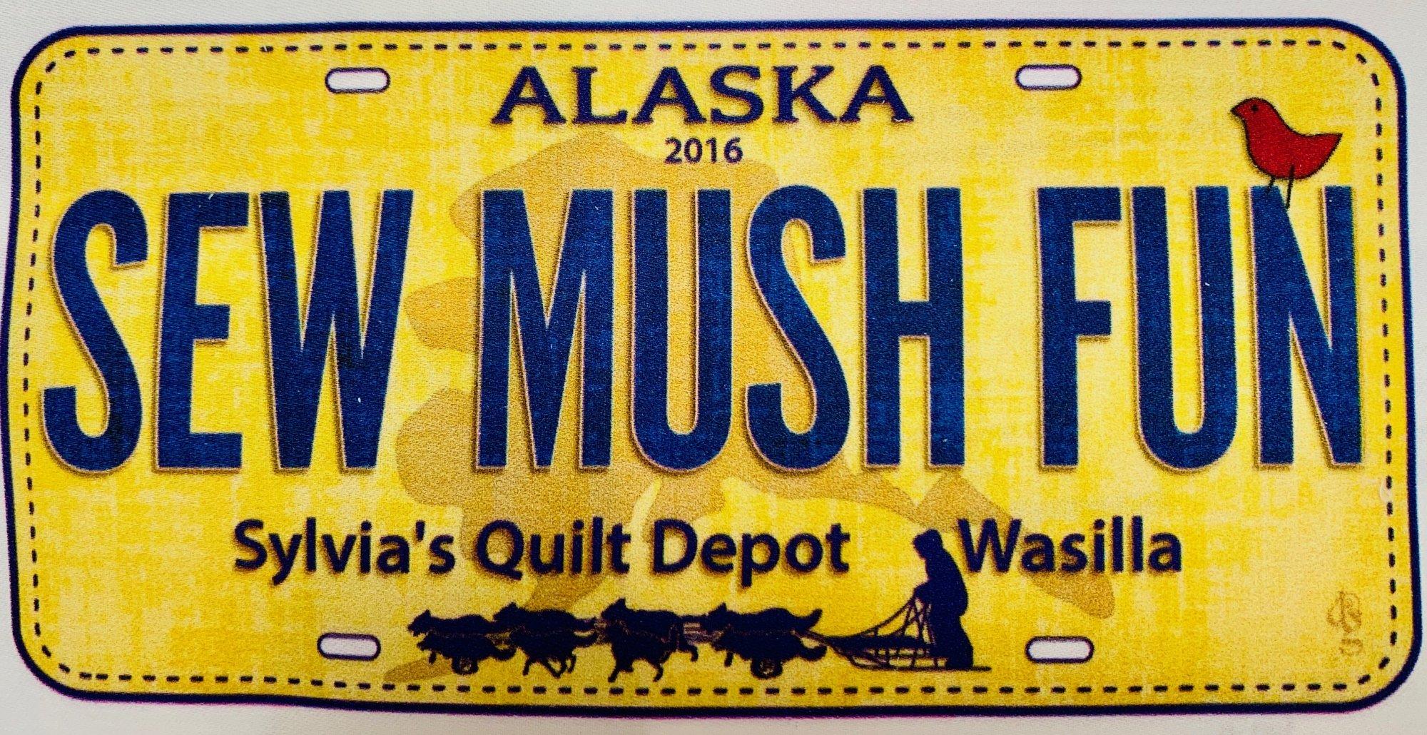 2016 License Plate-Sew Mush Fun