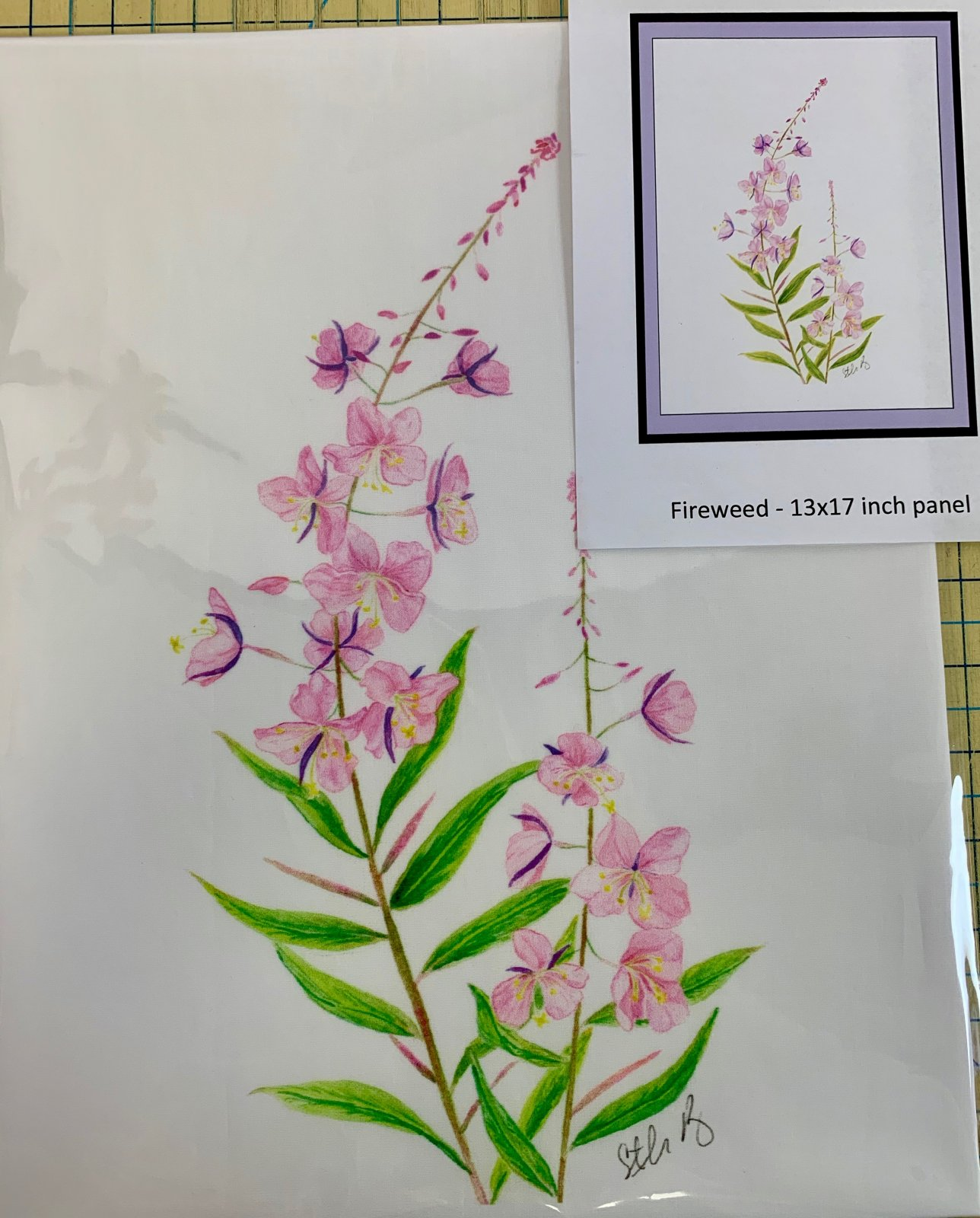 Fireweed Fabric Panel