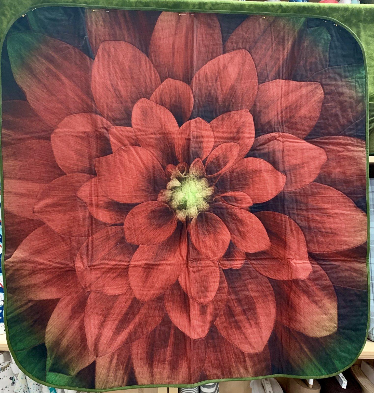 Dream Big Poinsettia Table Topper