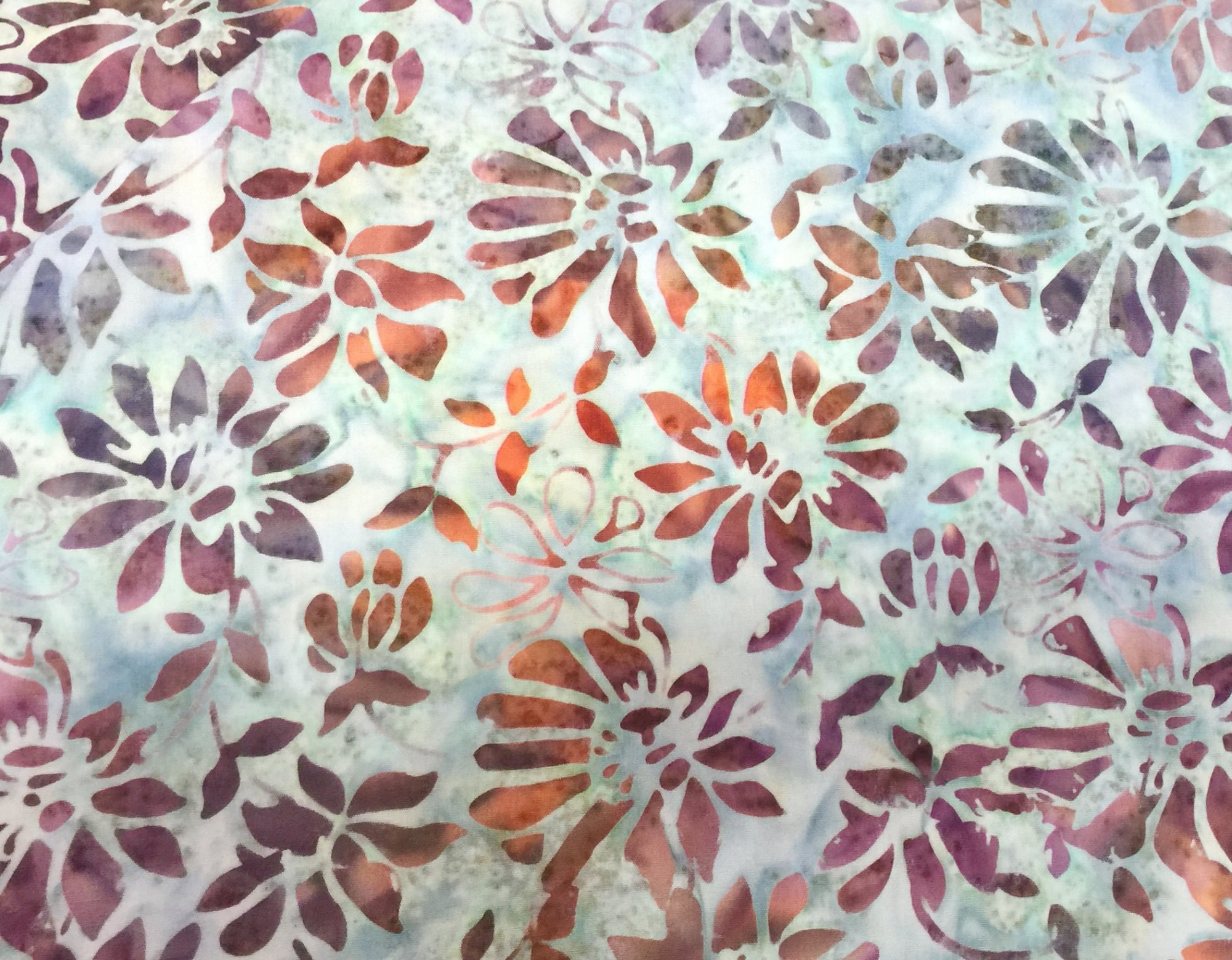 Batik-Floral-Grey/Salmon 089