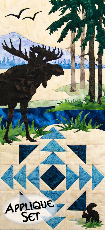 Moose Creek Wilderness Ridge Applique Set