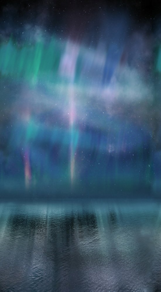 Aurora Borealis-Dusty-Blue Painted Forest