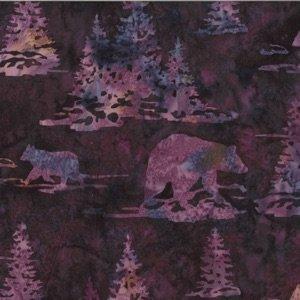 Batik-2910-Marsala Bear/Pines