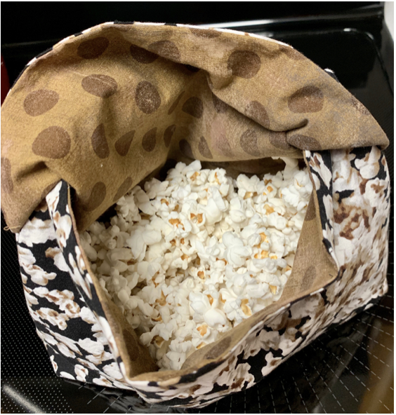 Reusable Fabric Popcorn Bag Kit