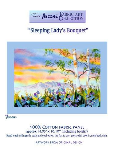 Sleeping Lady Bouquet Fabric Panel