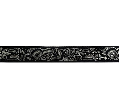 Ribbon-Tlingit, Gray/Black 7/8 Wide