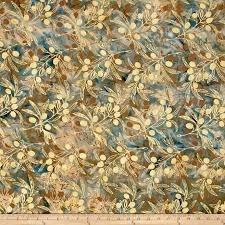 Batik-Olive Branch-Opal 830