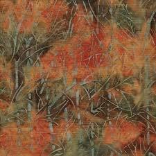 Batik-Twig-Coral Orange-091