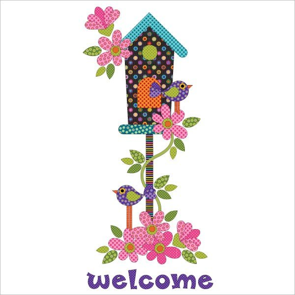 Welcome Home-Panel-Applique