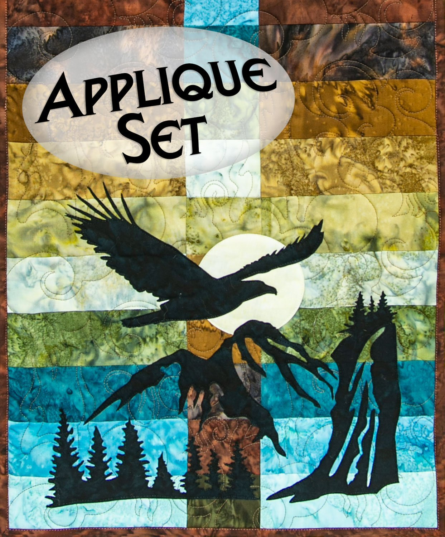 Wildwood Soaring Eagle Applique Set