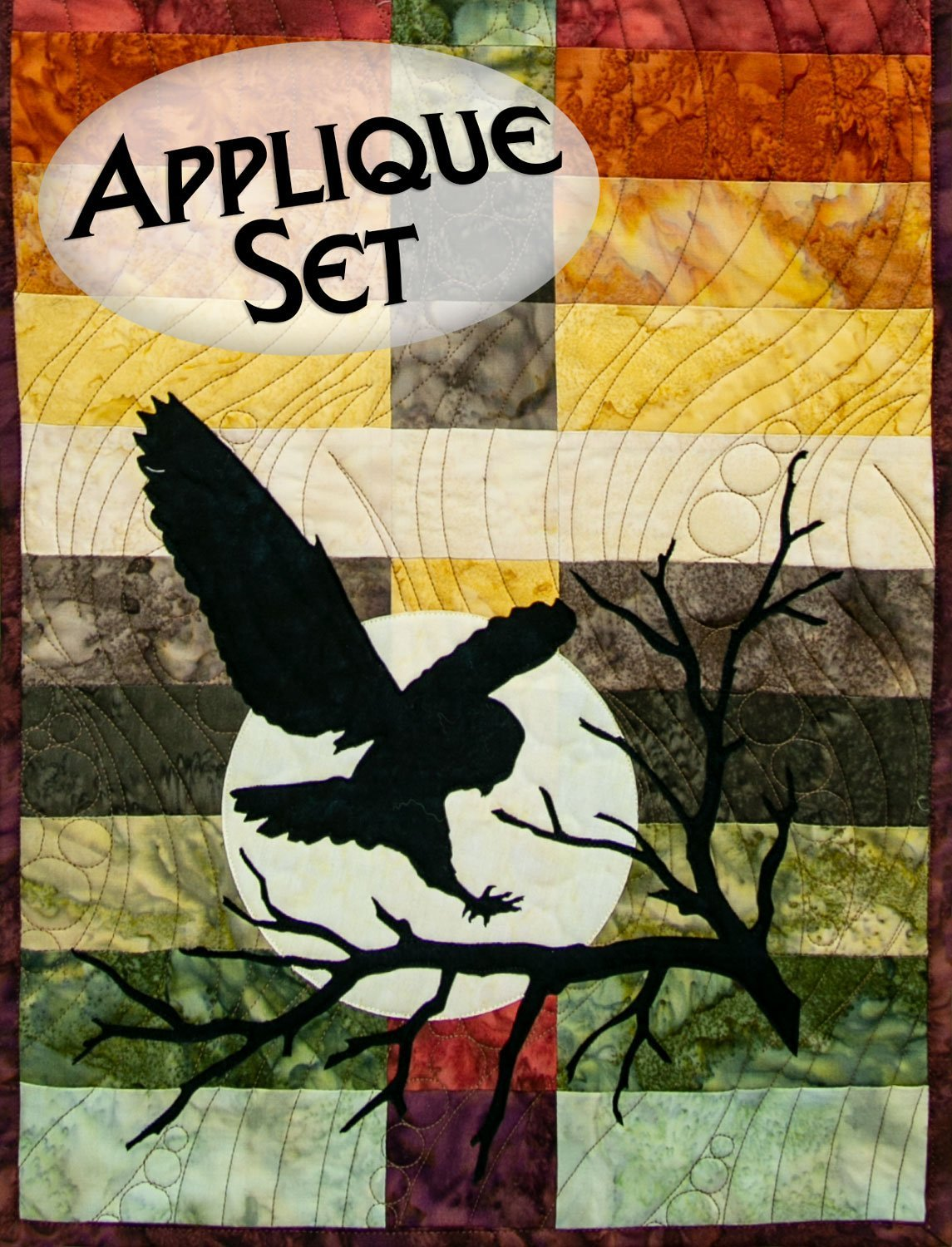 Wildwood Night Owl Applique Set