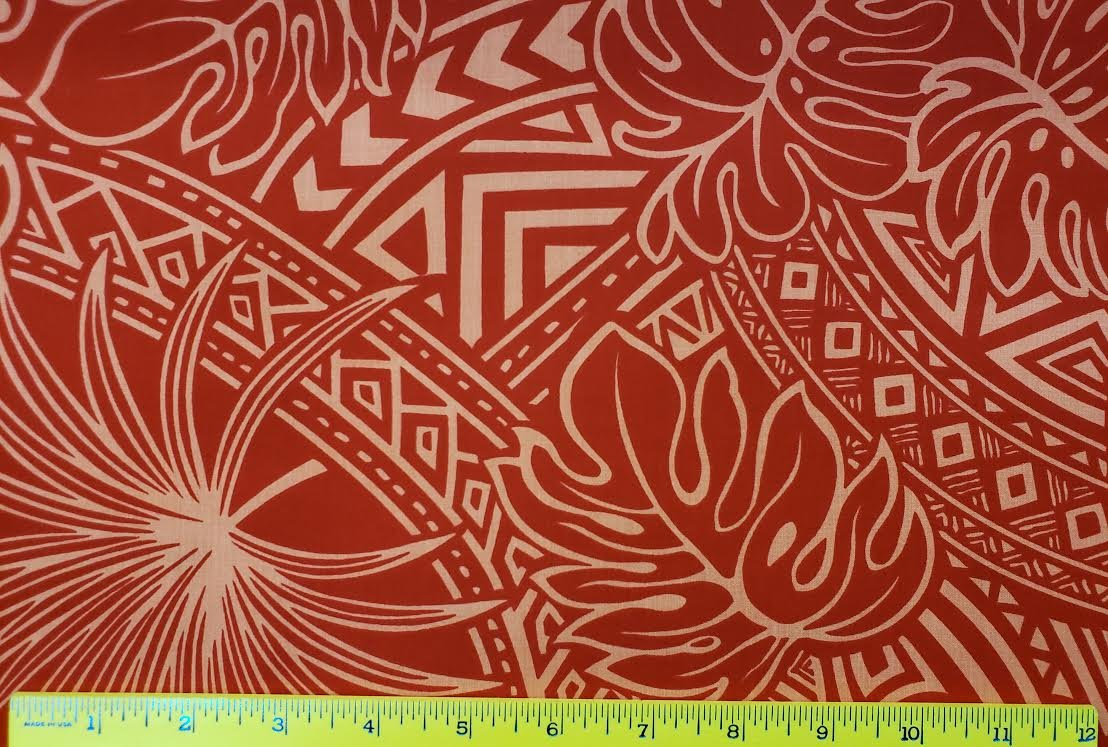 Mixed Tribal Floral - red pink