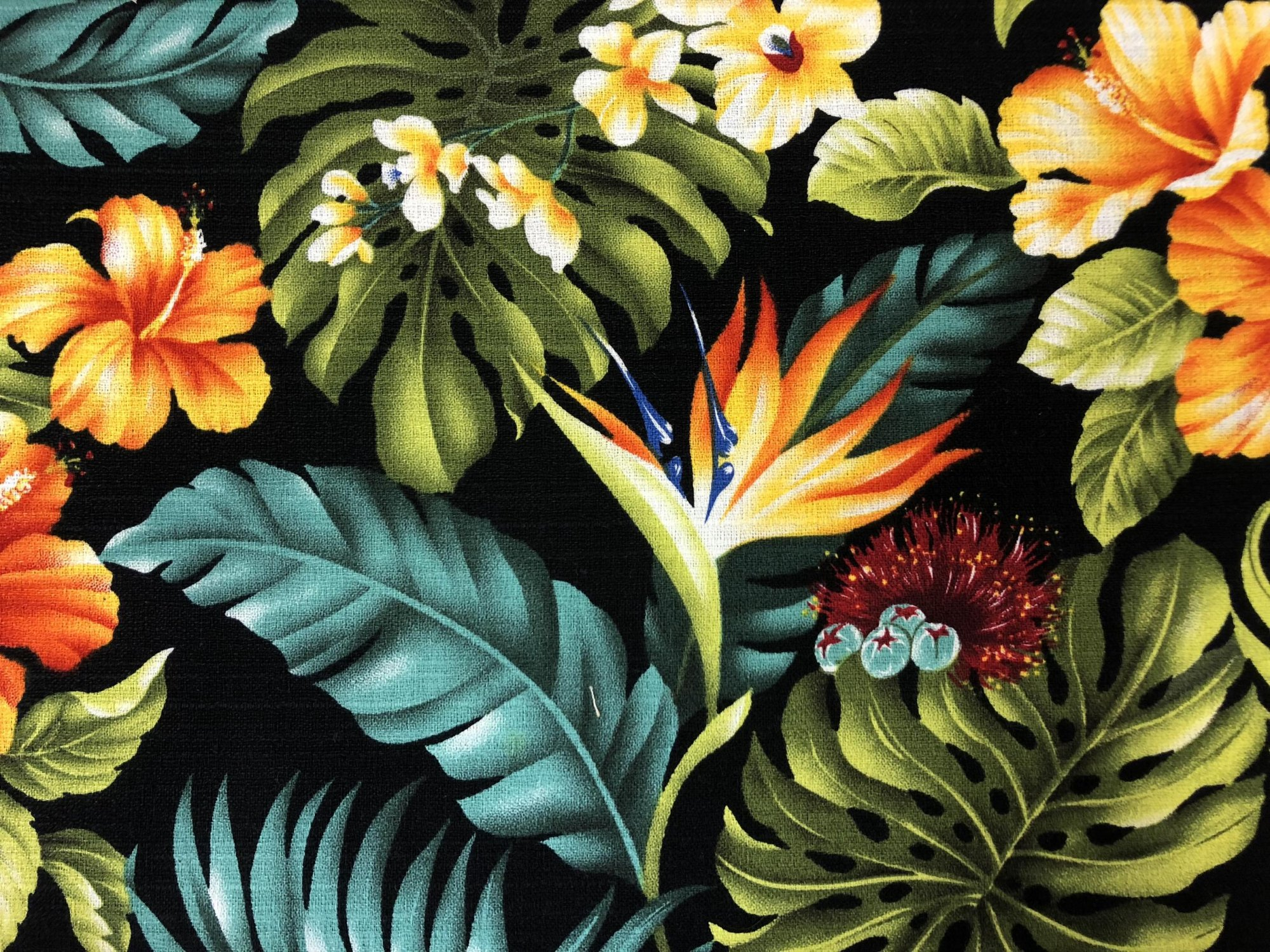 Hawaiian Floral Barkcloth