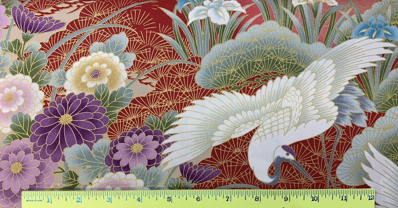 Chrysanthemum & Crane
