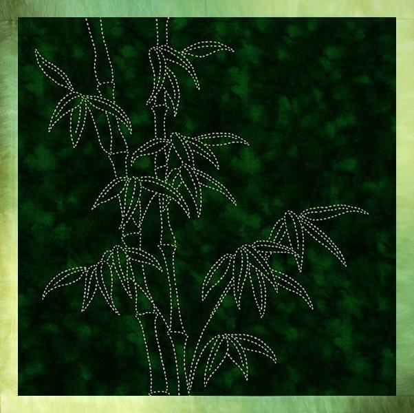 Sylvia Pippen Tropical Foliage Sashiko Panels