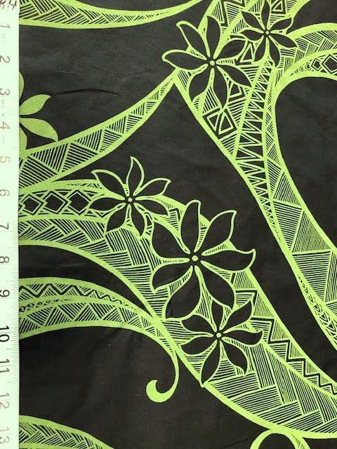 hawaiian tribal black/green
