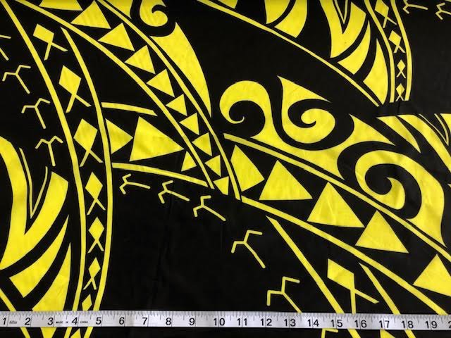 hawaiian tribal black/yellow