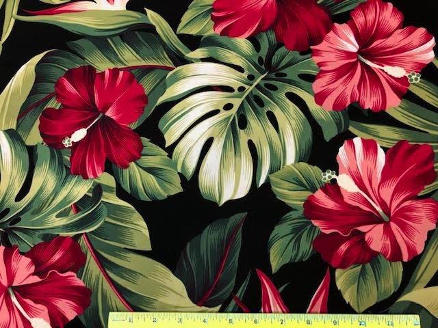 Hibiscus/monstera/bird of paradise