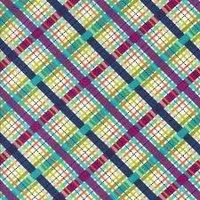 Diamond Plaid - Jewel tone