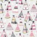 Teepees pink & coordinates