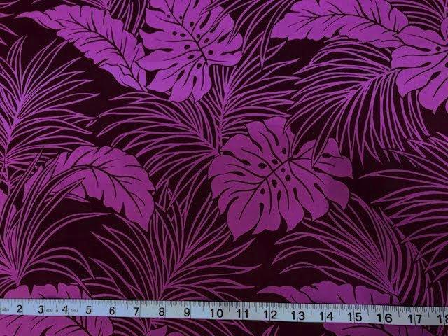 Grape/lavender tropical leaves