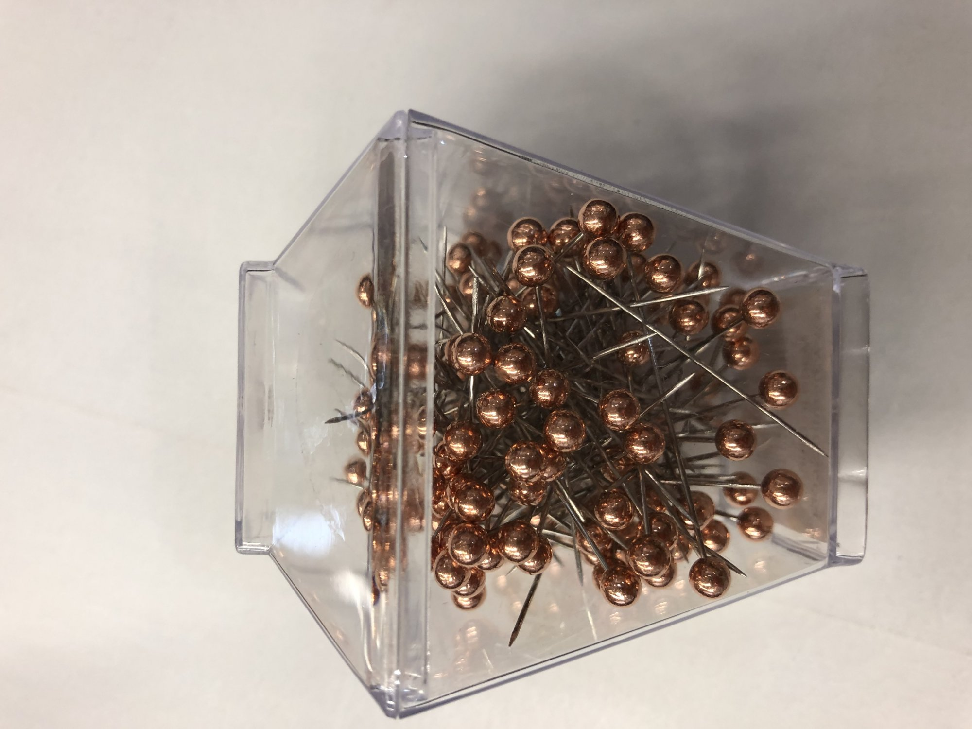 1-3/8 rose gold head pins-150 count