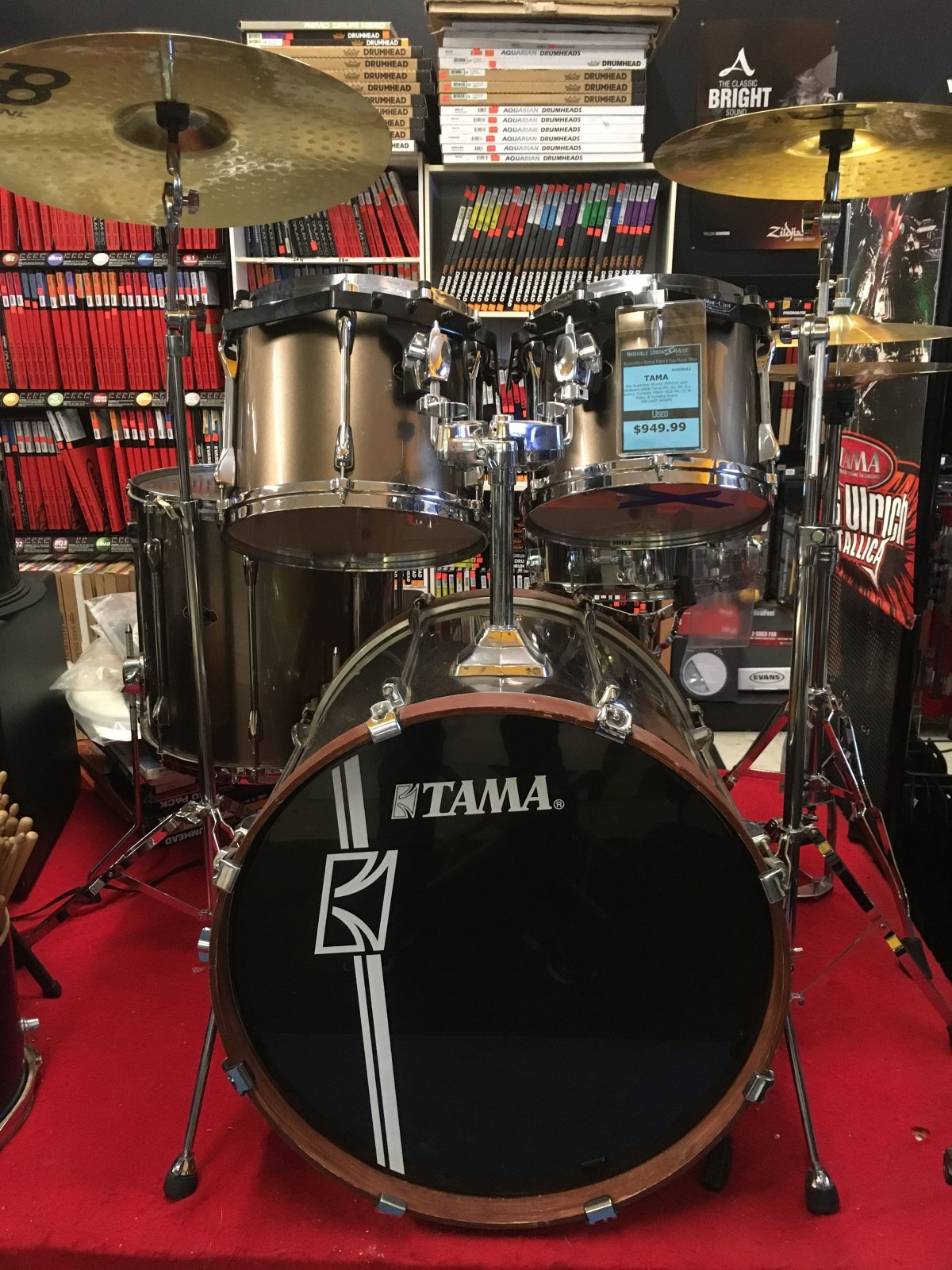 USED Tama 5pc Superstar Kit with Yamaha Snare & Meinl Cymbals