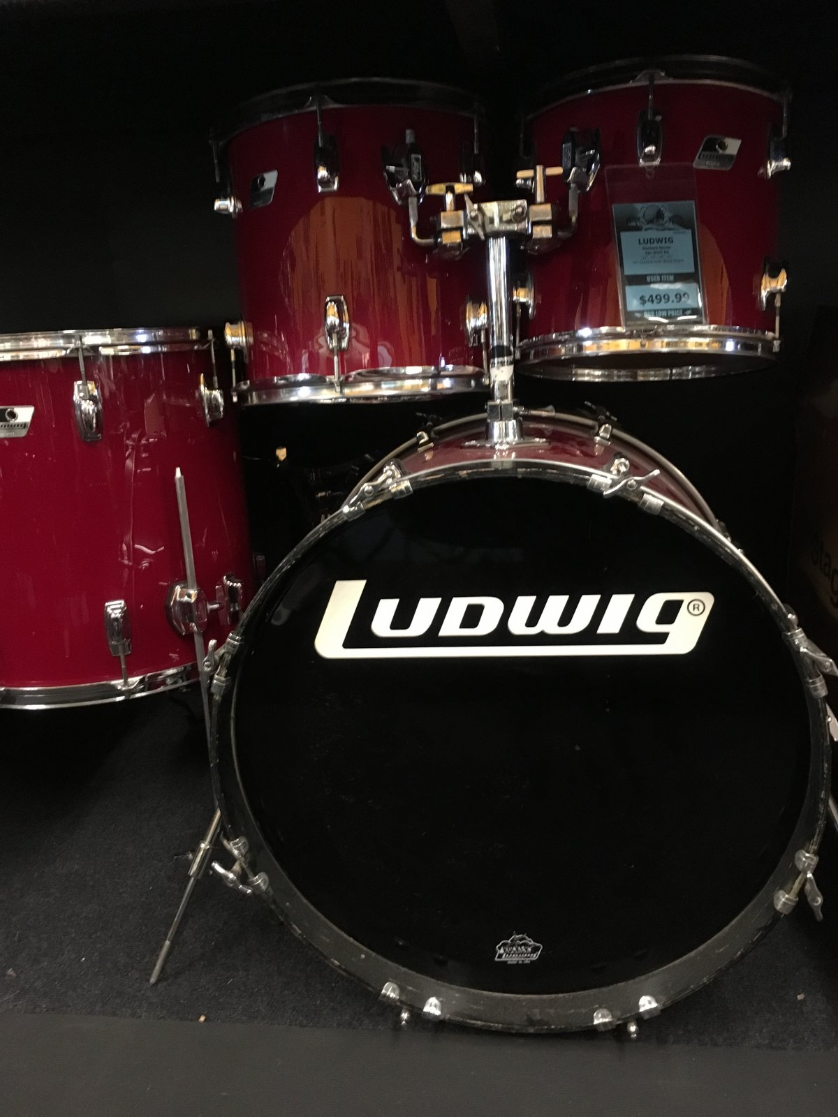USED Ludwig Rockers 5pc Shell Kit