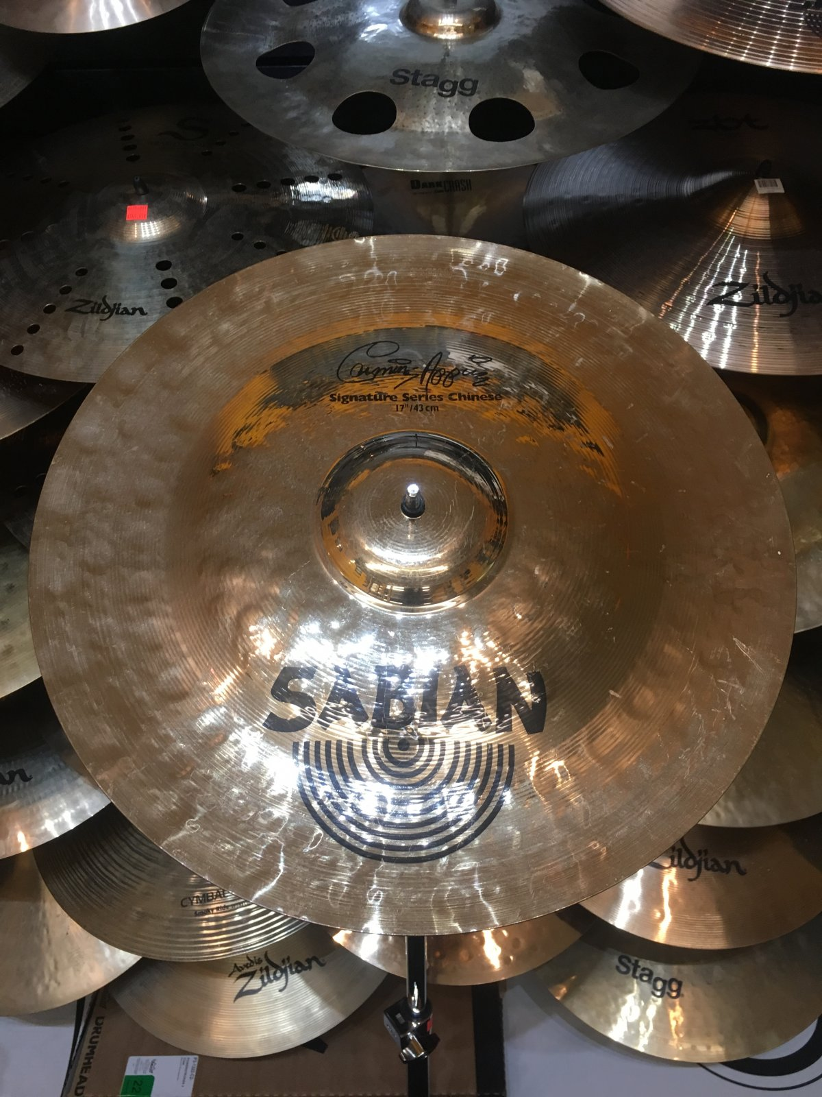 USED Sabian 17 Carmine Appice Signature Series Chinese