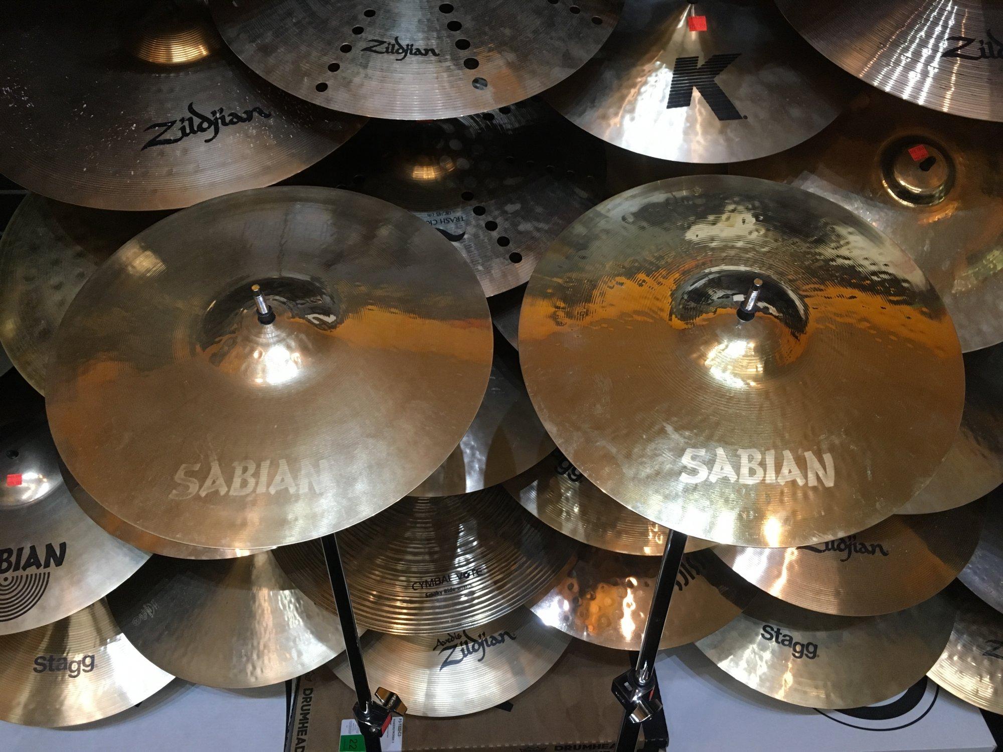 USED Sabian 13 Paragon Hi Hat PAIR