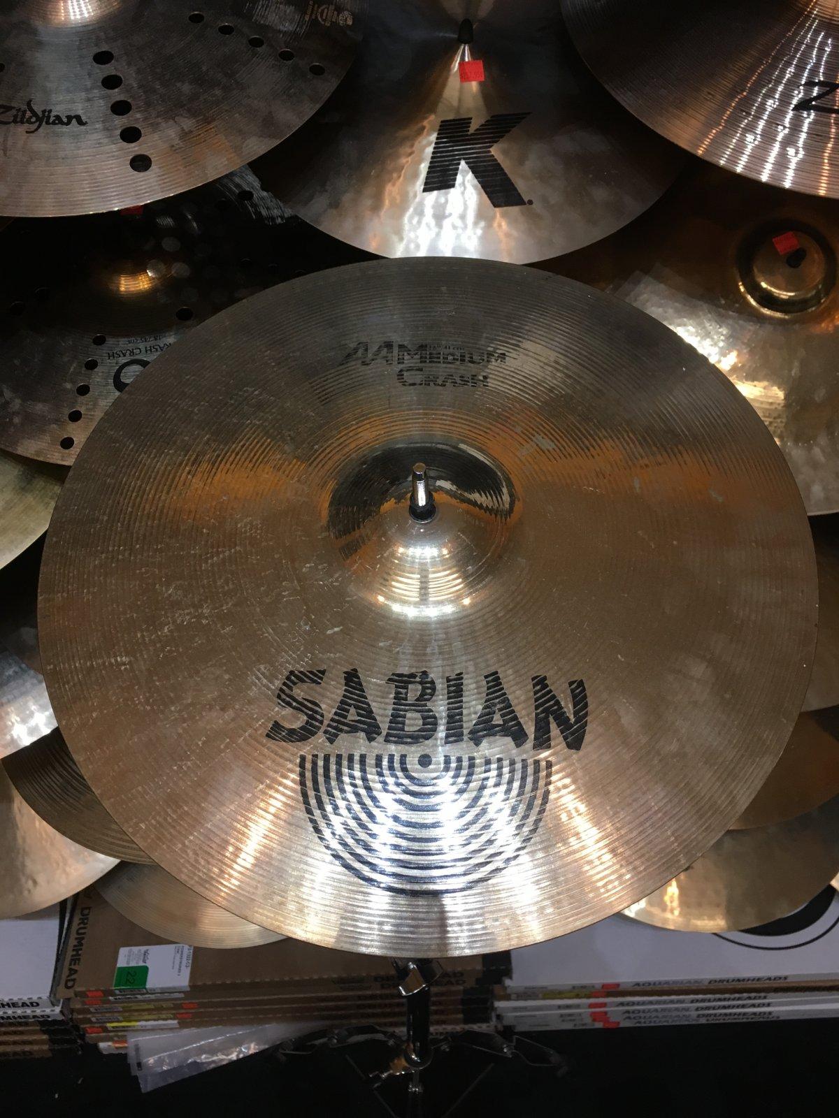 USED Sabian 16 AA Medium Crash Cymbal