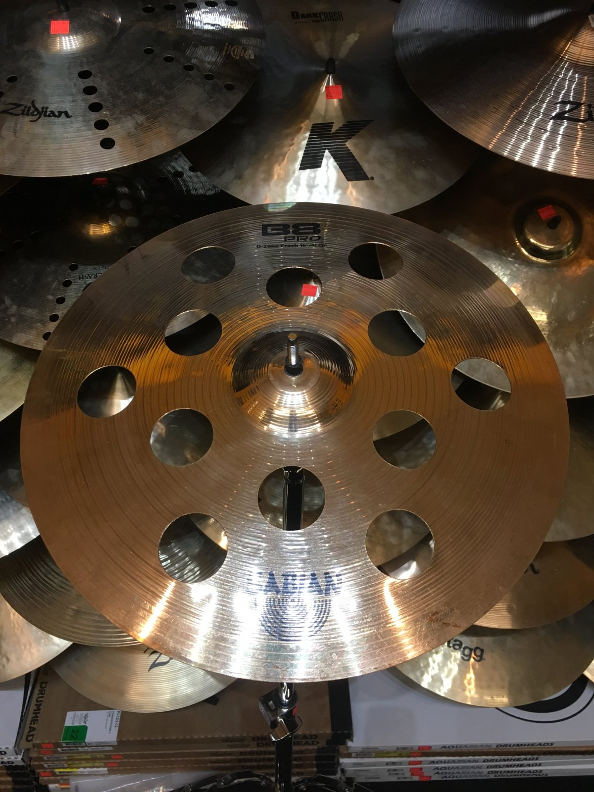 USED Sabian 16 B8 Pro O-Zone Crash Cymbal
