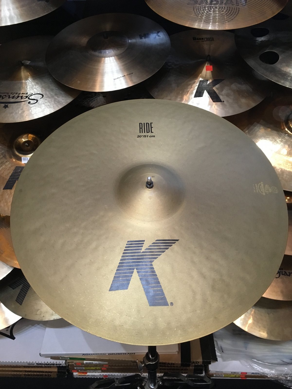 USED Zildjian 20 K Ride Cymbal *AS IS* Rough Edge