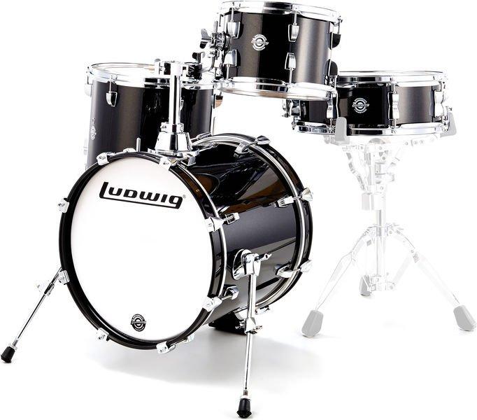 Ludwig 4pc ?uestlove Breakbeats Shell Kit w/ Bags Black Sparkle