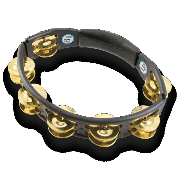 LP170 Cyclops Tambourine Hand Held Brass Jingles