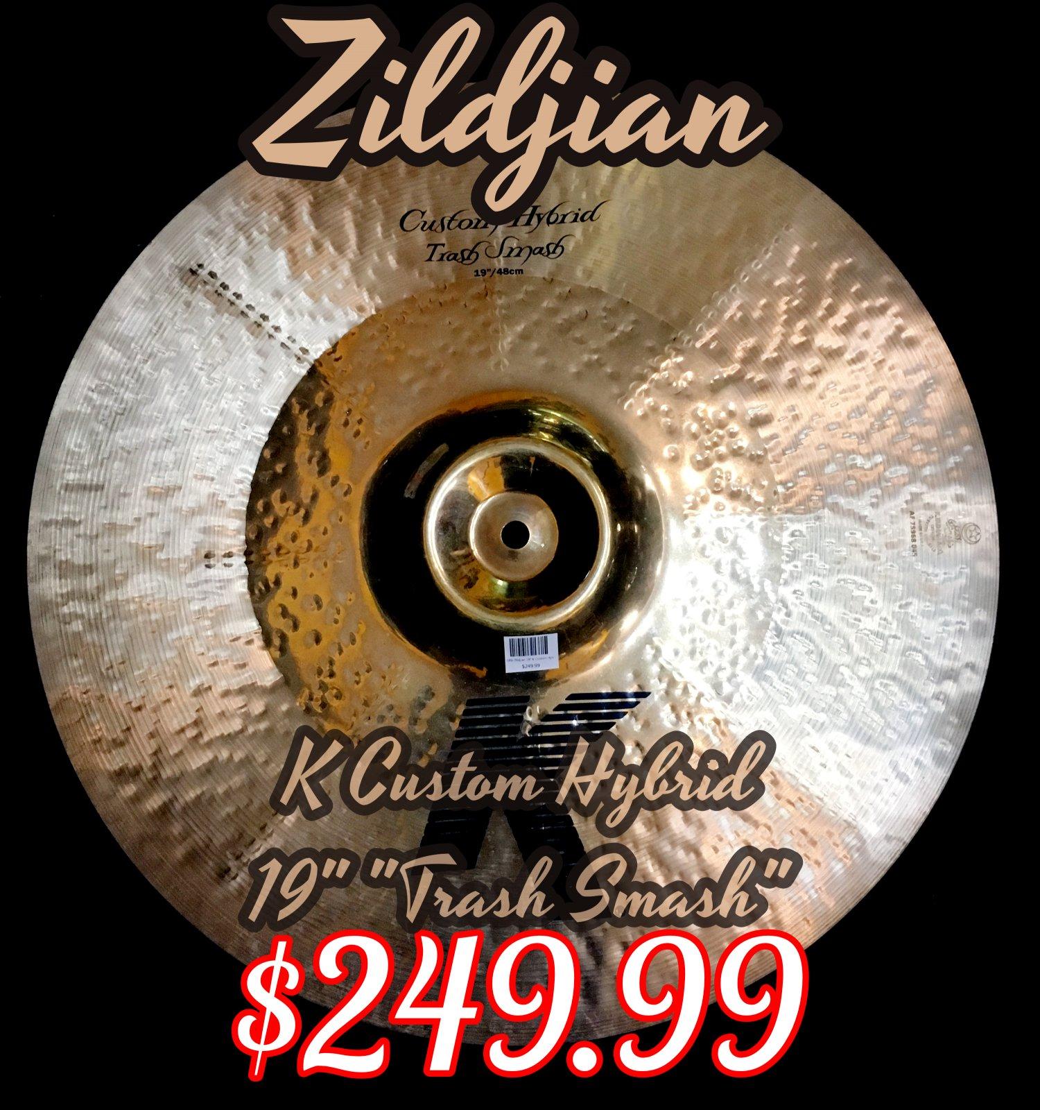USED ZIldjian K Custom 19 Hybrid Trash Smash